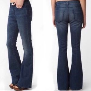 Silence + Noise Dark Wash High Rise Flare Jeans